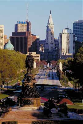 View of City Hall in Philadelphia